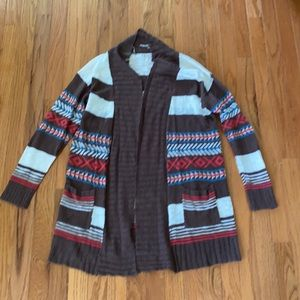 Kirra tribal pattern cardigan